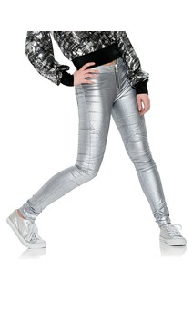 Click for more information about Silver Metallic Jeans
