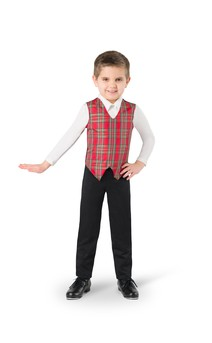 Click for more information about Boy's Plaid Vest