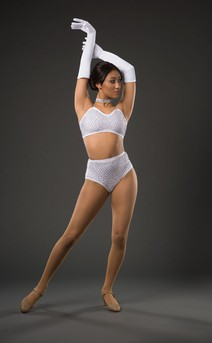 Click for more information about Rhinestone Bra & Hi-Waist Trunks
