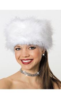 Click for more information about Marabou Fur Hat White