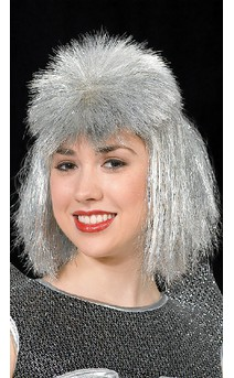 Click for more information about Silver Punk Wig