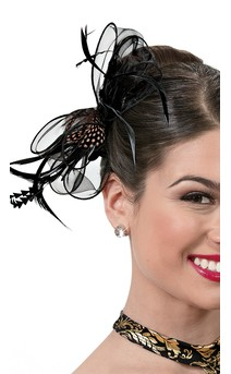 Click for more information about Feather Organza Clip