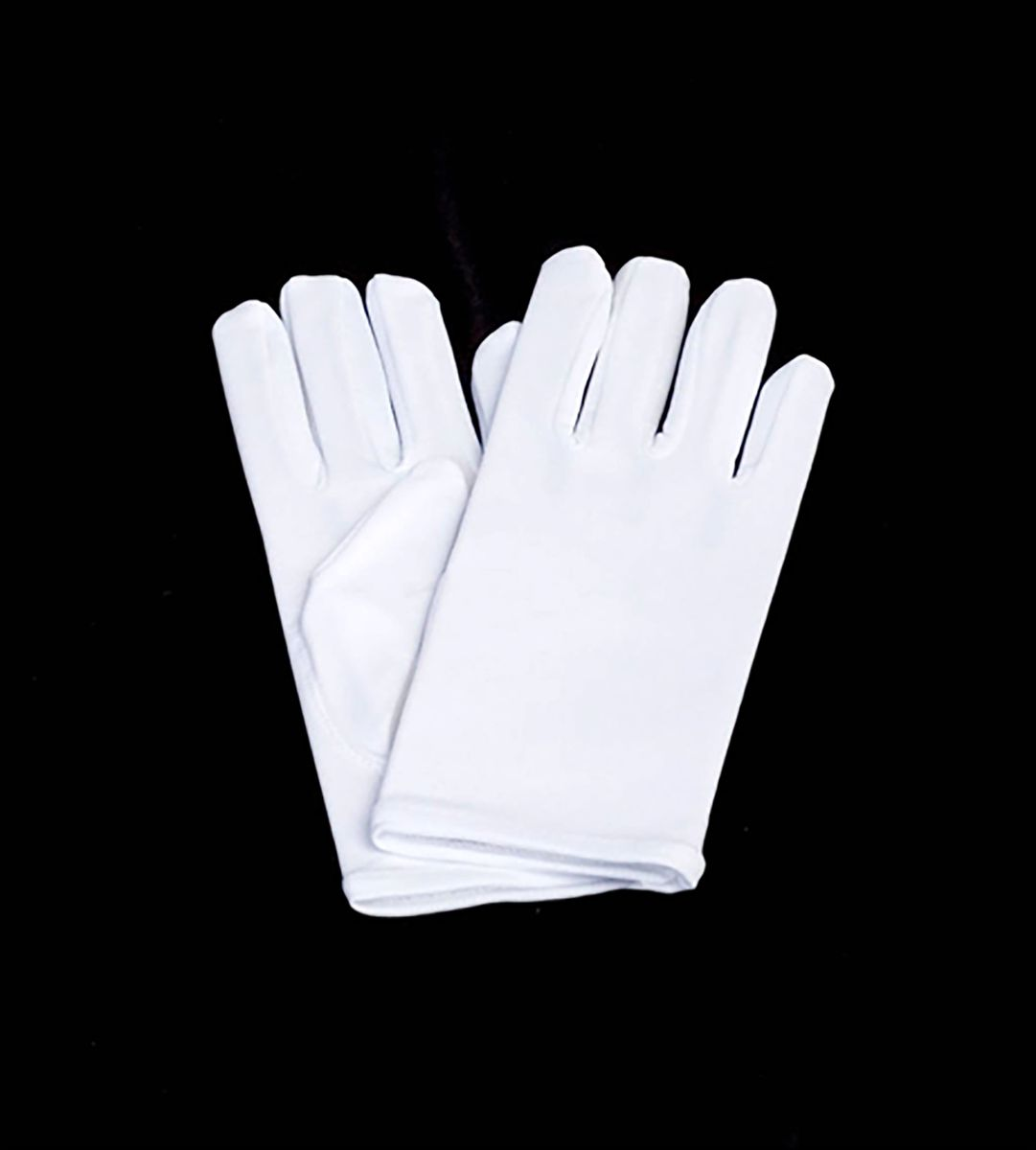 SHORT WHITE NYLON GLOVES