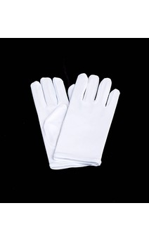 Click for more information about Short White Nylon Gloves