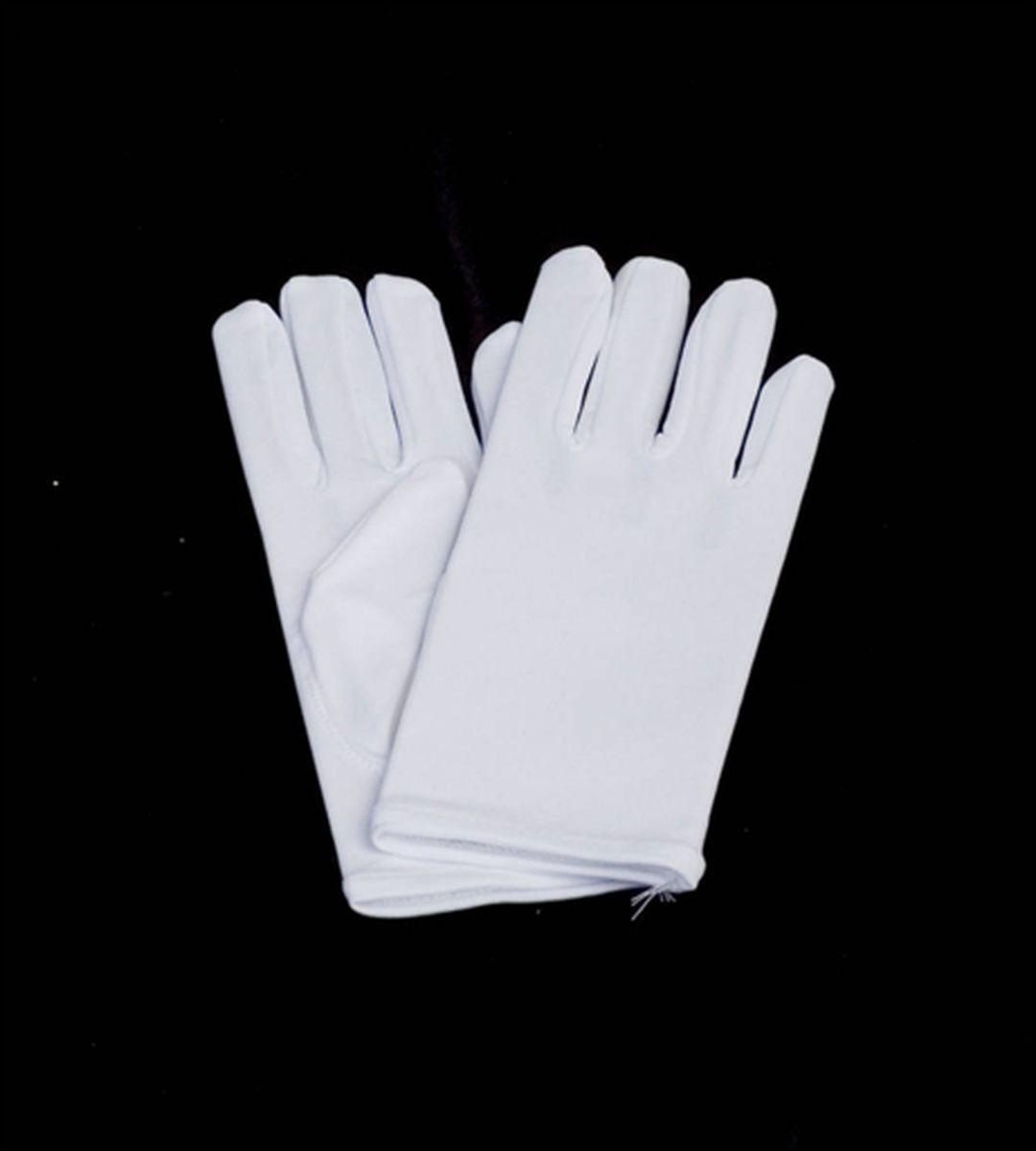SHORT WHITE NYLON GLOVES