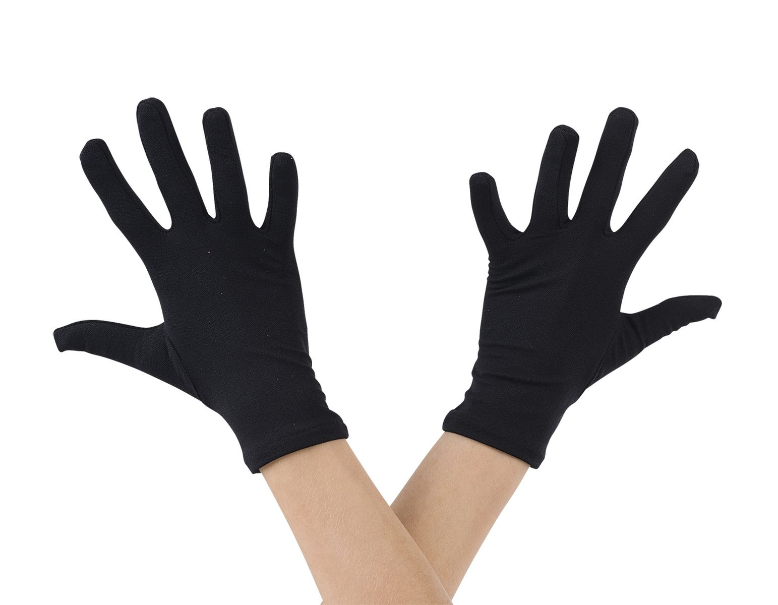 SHORT BLACK NYLON GLOVES