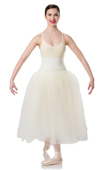Click for more information about Long Romantic Ivory Skirt