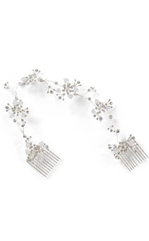 Click for more information about Silver Wrap Comb Tiara
