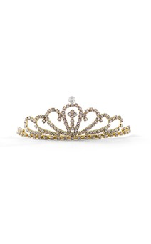 Click for more information about Gold Rhinestone Tiara