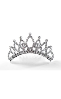 Click for more information about Silver Faux Rhinestone Tiara