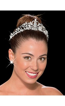 Click for more information about Silver Rhinestone Tiara